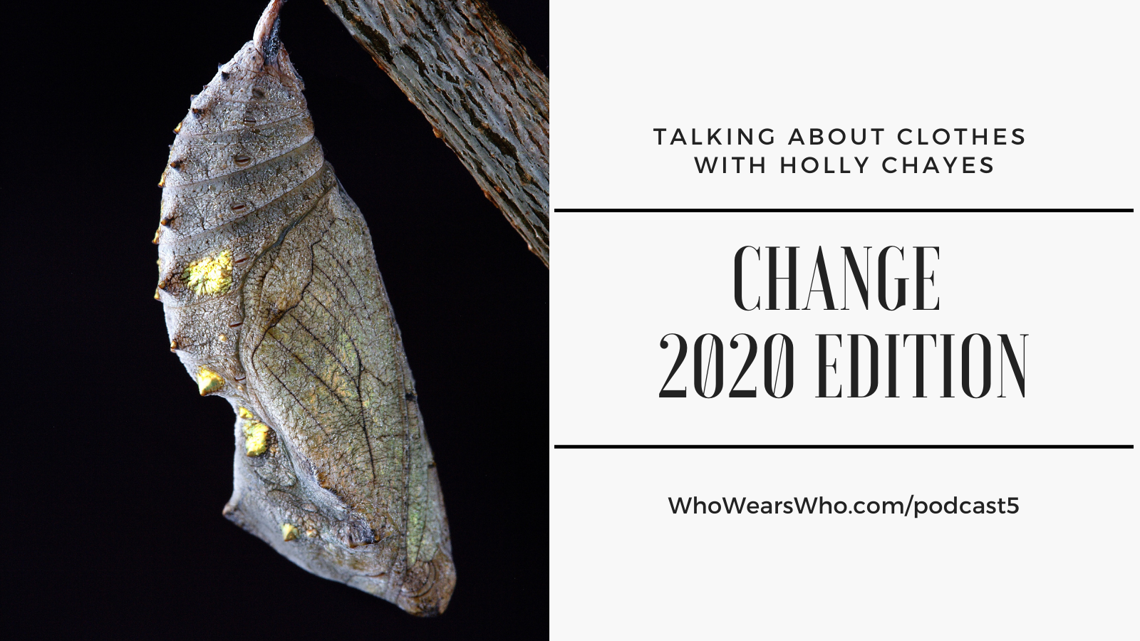 Talking About Clothes Podcast 5 Change 2020 Edition Twitter